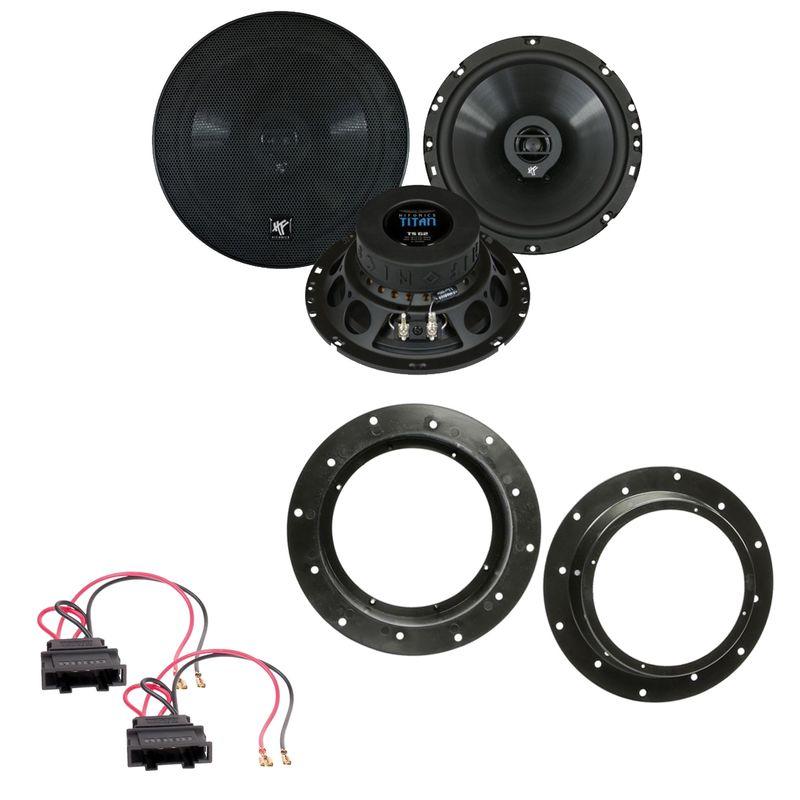 Hifonics Titan TS-62 Koax Lautsprecher Einbauset vorne passend für Octavia Yeti