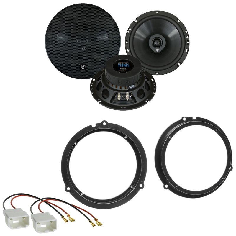 Hifonics Titan TS-62 Koaxial 2-Wege Lautsprecher Einbauset für Ford C-Max DXA
