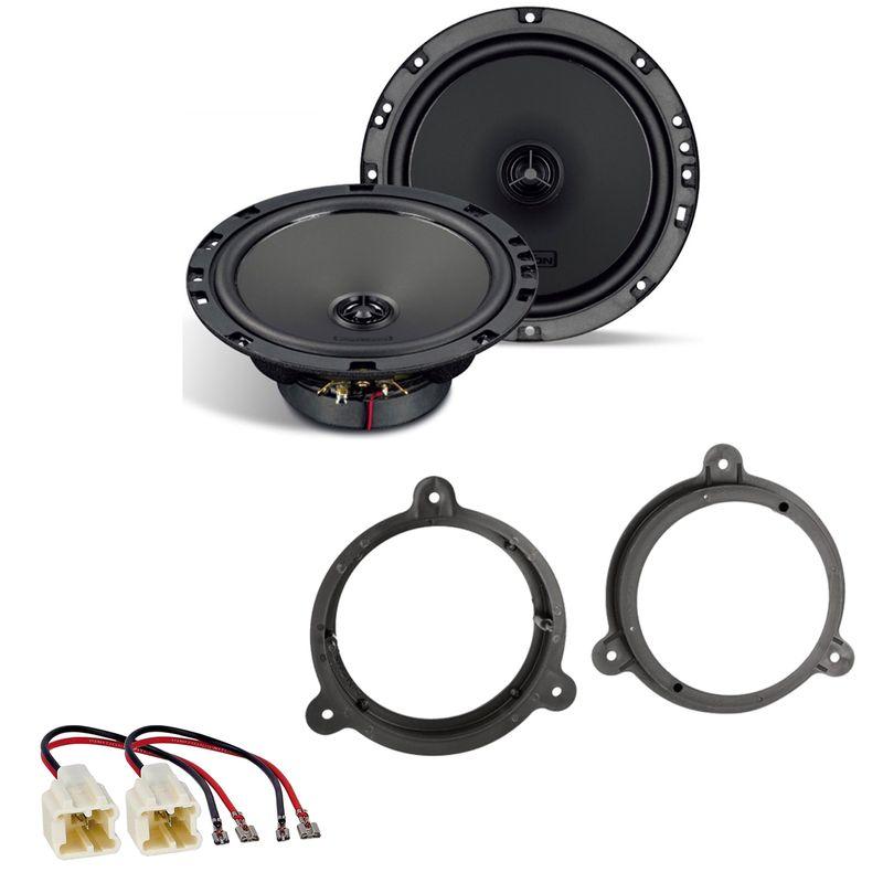 AXTON ATX165 Koaxial Lautsprecher Einbauset für Nissan Micra K12 K13 vorne