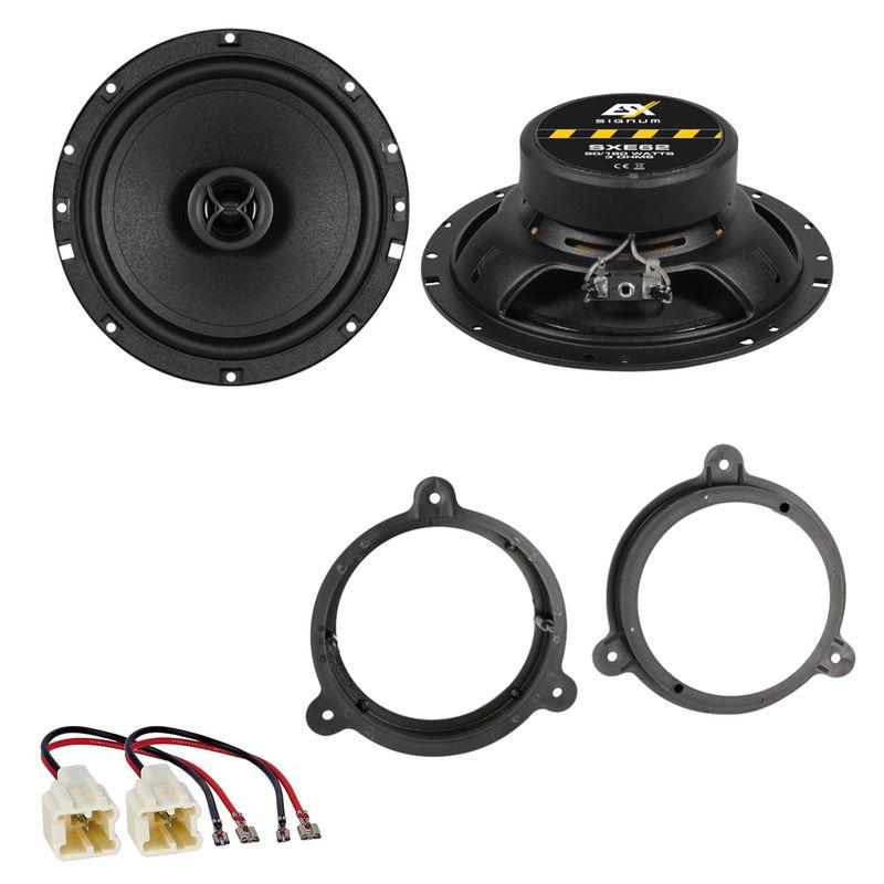 ESX SIGNUM SXE-62 Koaxial Lautsprecher Einbauset für Nissan X-Trail T30 T31 T32