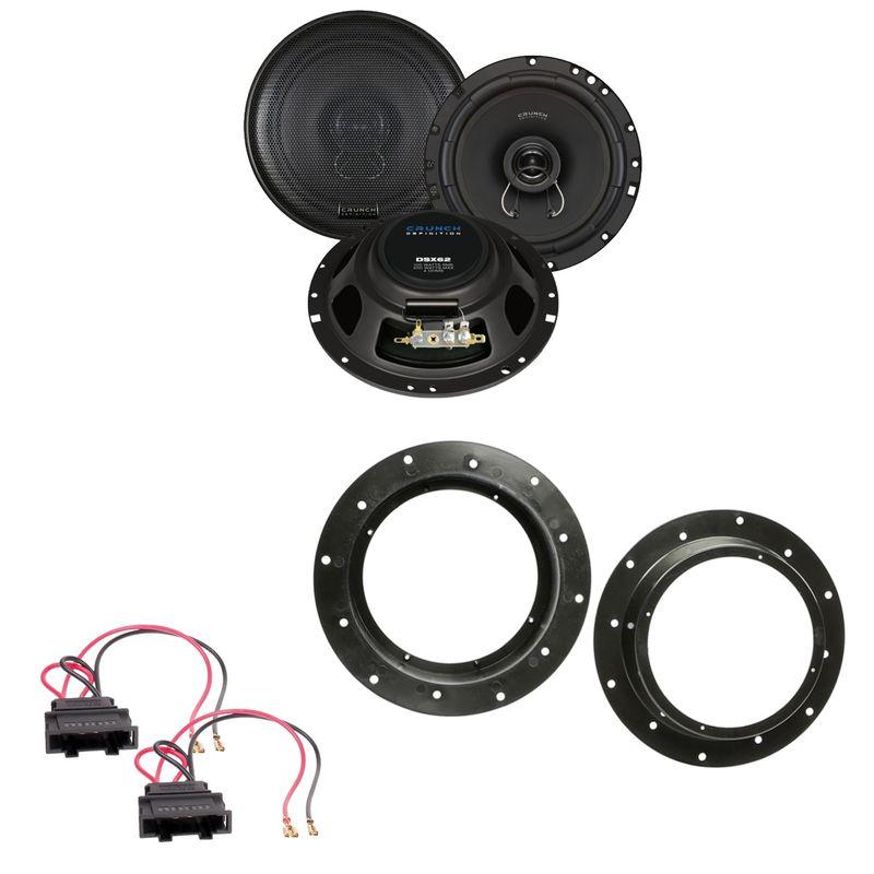 Crunch DSX62 Koax Lautsprecher Einbauset vorne passend für T6 Passat B8 Arteon