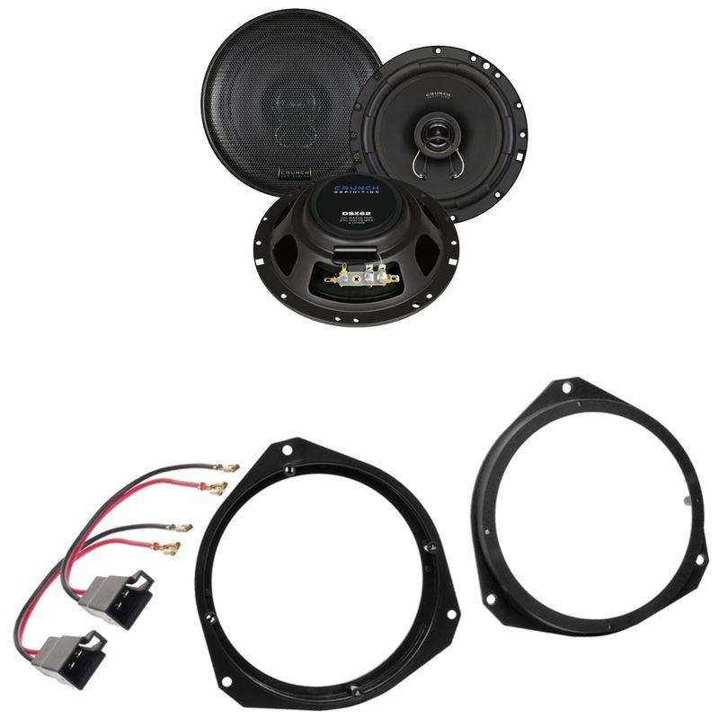 Crunch DSX62 Koaxial 2-Wege Lautsprecher Einbauset für Fiat Punto 188 Tür vorne