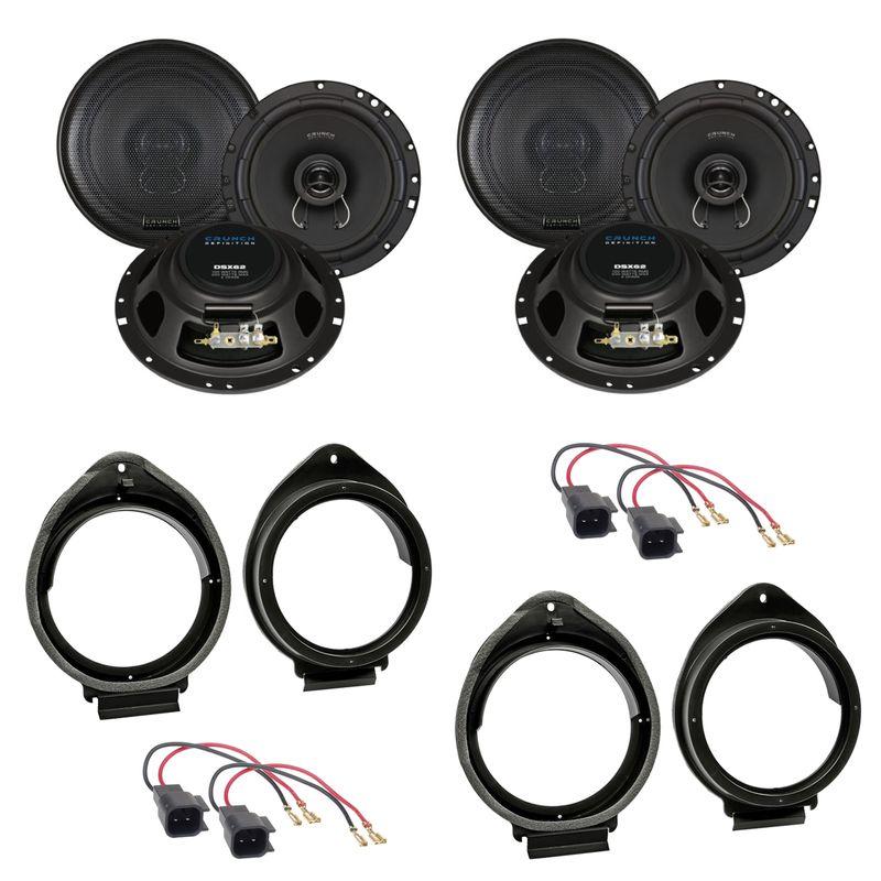Crunch DSX62 Koaxial 2-Wege Lautsprecher Einbauset für Opel Insignia A Meriva B