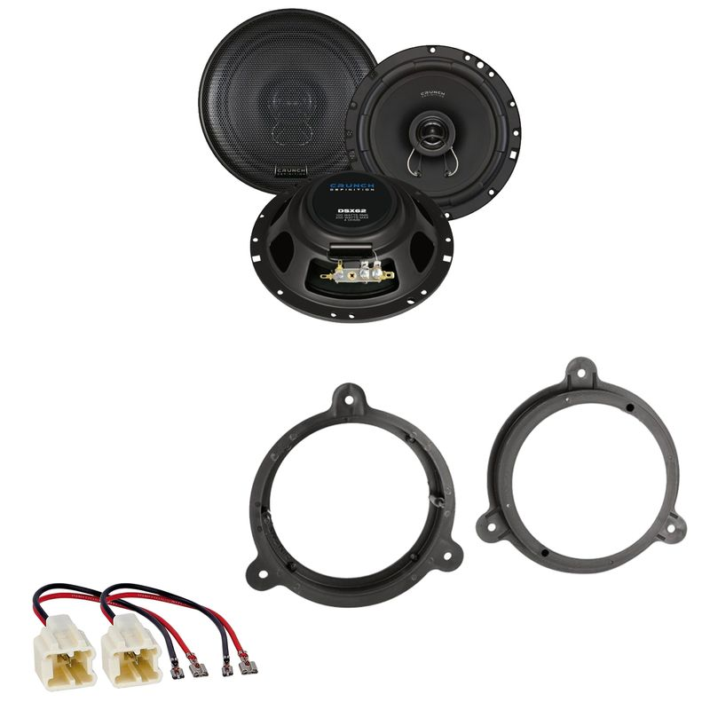 Crunch DSX62 Koaxial Lautsprecher Einbauset für Nissan Micra K12 K13 vorne