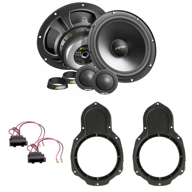 ETON POW 172.2 Lautsprecher Einbauset vorne passend für Passat B6 B7 3C CC