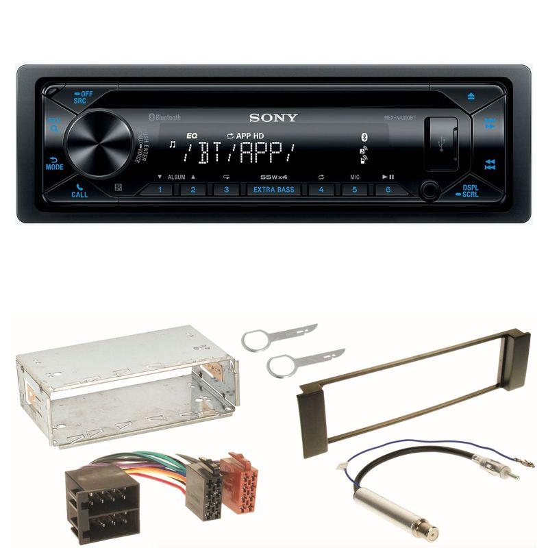 Sony MEX-N4300BT Bluetooth USB CD Einbauset für Seat Leon Toledo 1M