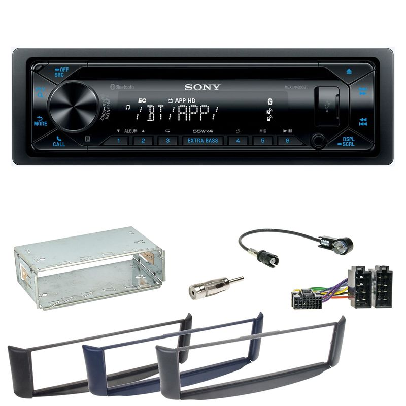 Sony MEX-N4300BT Bluetooth USB CD Einbauset Smart ForTwo 450