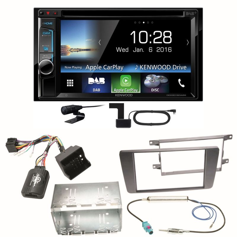 Kenwood DDX-8016DABS Carplay Digitalradio Einbauset für Skoda Octavia 2 Yeti 5L