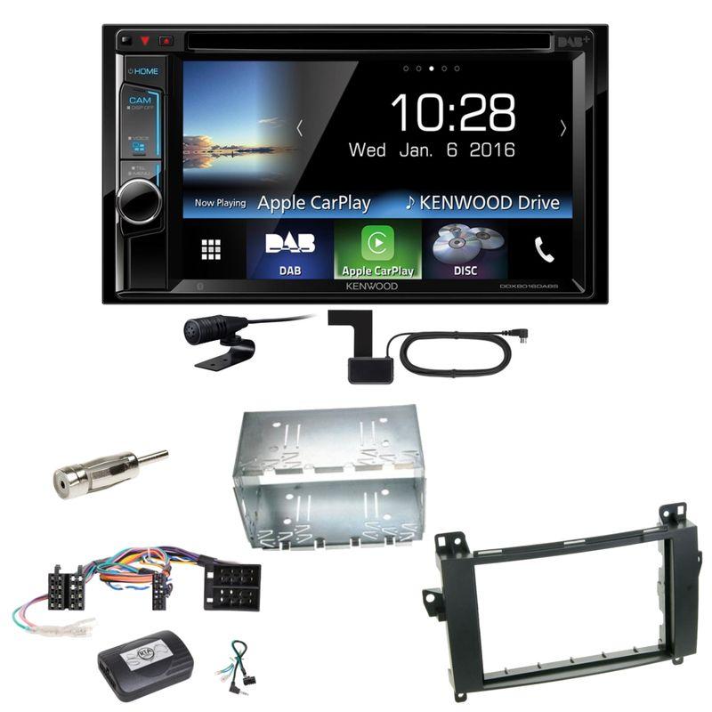 Kenwood DDX-8016DABS Carplay Digitalradio Einbauset für Mercedes Vito Viano W639