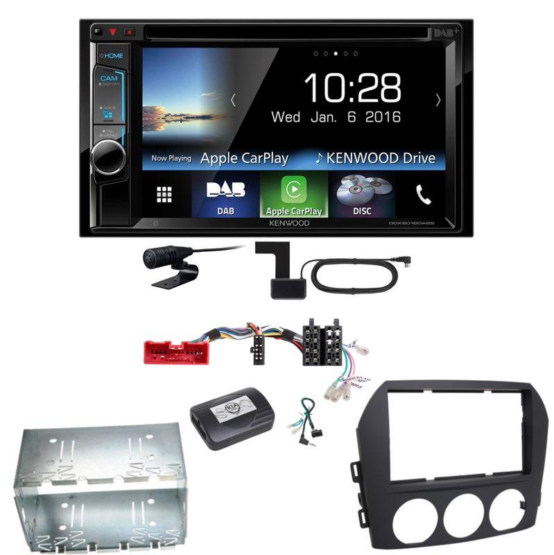 Kenwood DDX-8016DABS Carplay Digitalradio Einbauset für Mazda MX-5 NC