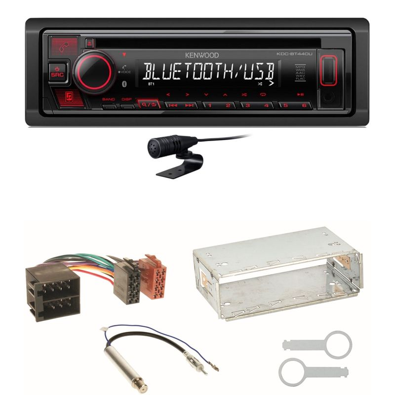 Kenwood KDC-BT440U Bluetooth USB CD MP3 Einbauset für Skoda Octavia 1U Superb 1