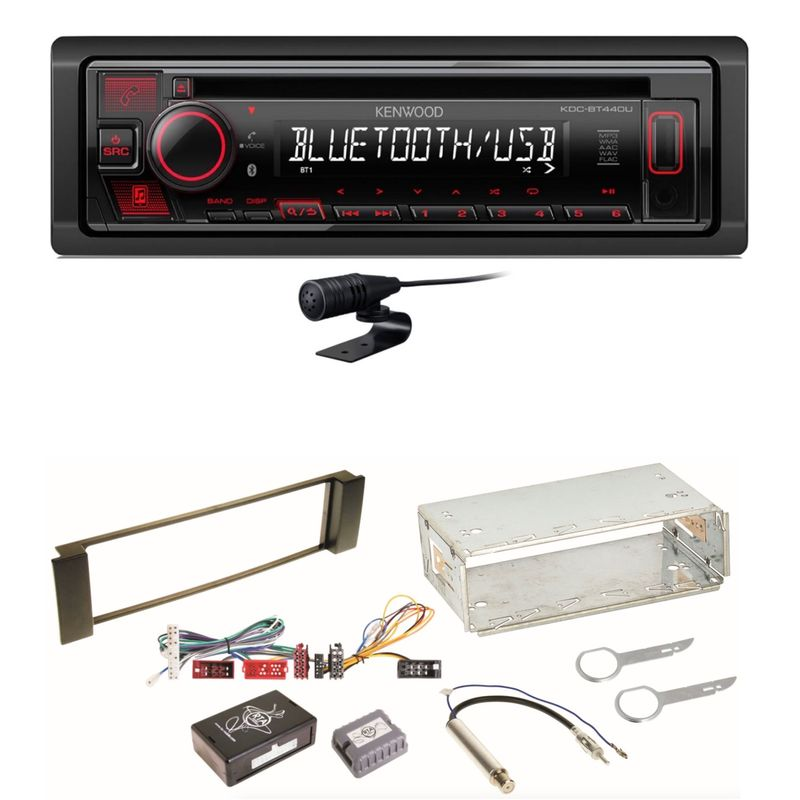 Kenwood KDC-BT440U Bluetooth USB CD Autoradio MP3 Einbauset für Audi A3 8L A6 4B