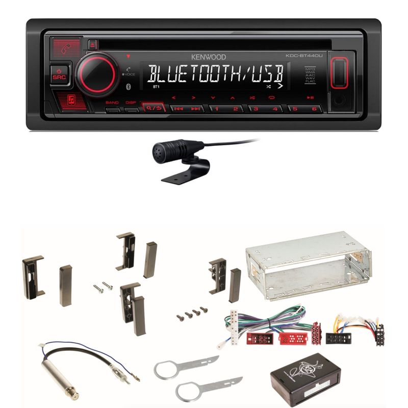 Kenwood KDC-BT440U Bluetooth USB CD Autoradio MP3 Einbauset für Audi A3 8L