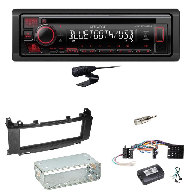 Kenwood KDC-BT440U Bluetooth USB CD Einbauset für Mercedes A B Klasse W169 W245