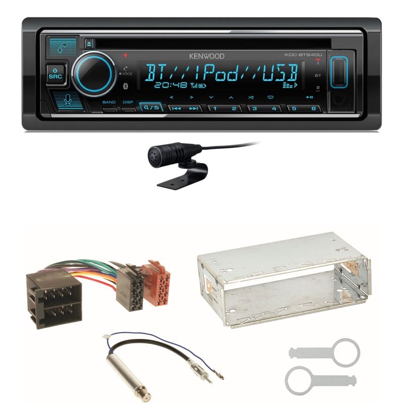 Kenwood KDC-BT640U Bluetooth USB CD MP3 Einbauset für Skoda Octavia 1U Superb 1