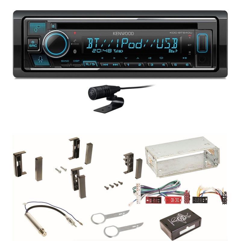 Kenwood KDC-BT640U Bluetooth USB CD Autoradio MP3 Einbauset für Audi A3 8L