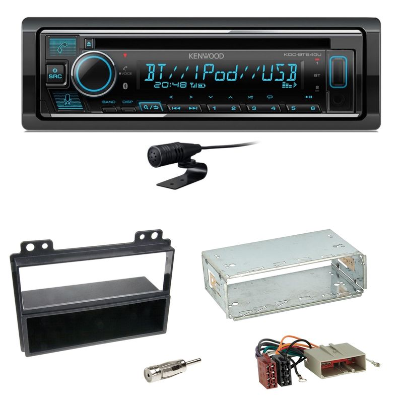 Kenwood KDC-BT640U Bluetooth USB Autoradio MP3 Einbauset für Ford Fiesta Fusion