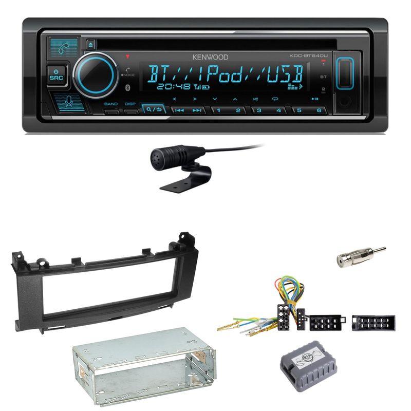 Kenwood KDC-BT640U Bluetooth USB CD Einbauset für Mercedes A B Klasse W245 W169