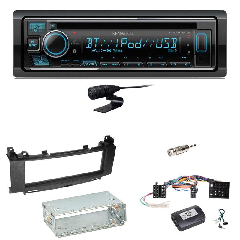 Kenwood KDC-BT640U Bluetooth USB CD Einbauset für Mercedes A B Klasse W169 W245