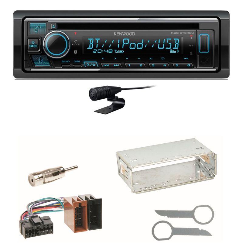 Kenwood KDC-BT640U Bluetooth USB MP3 Einbauset für Mercedes SLK R170 W208 W210