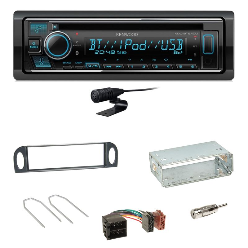 Kenwood KDC-BT640U Bluetooth USB CD MP3 Einbauset für Citroen C5 bis 07/2004