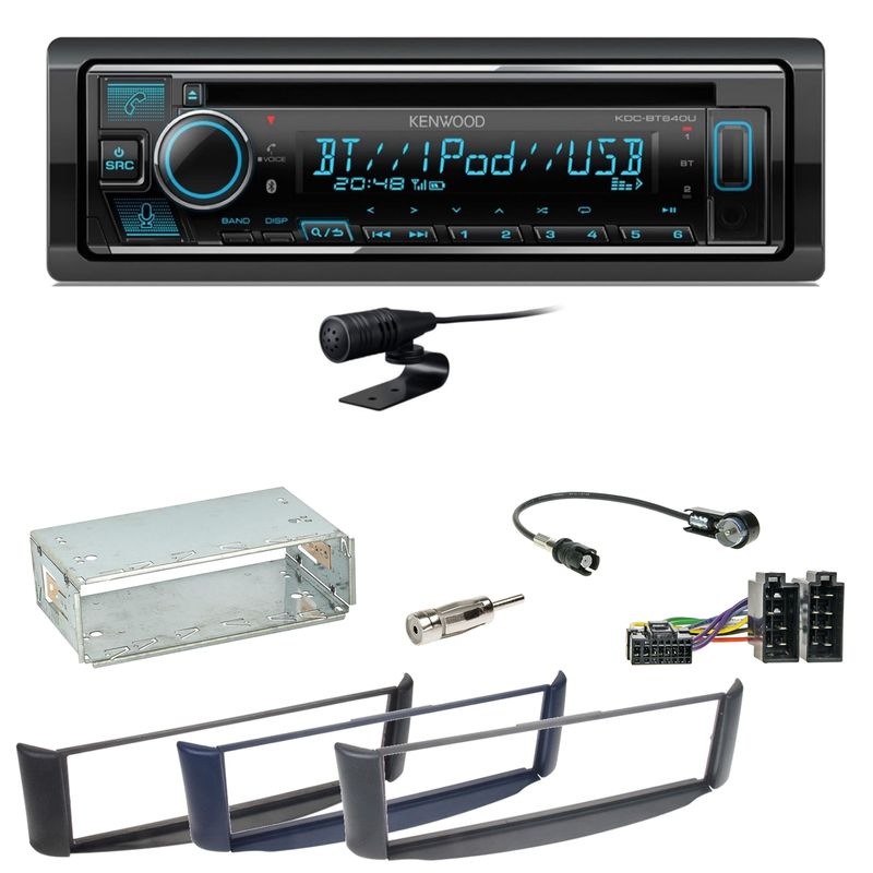 Kenwood KDC-BT640U Bluetooth USB CD MP3 Autoradio Einbauset Smart ForTwo 450