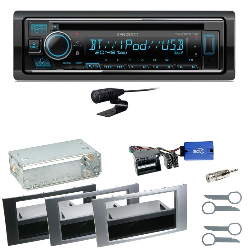 Kenwood KDC-BT640U Bluetooth USB MP3 Einbauset für Ford Kuga Fusion Galaxy S-Max