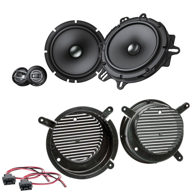 Pioneer TS-A1600C Lautsprecher Einbauset für Mercedes SLK R170 2 Wege vorne