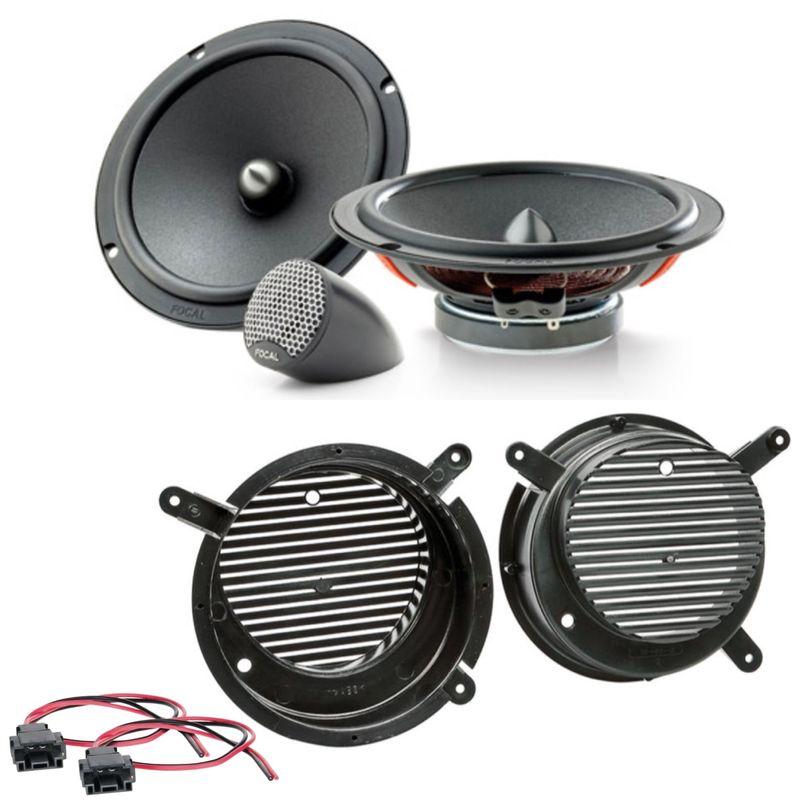 Focal ISU165 2-Wege Lautsprecher Einbauset für Mercedes SLK R170 2 Wege vorne