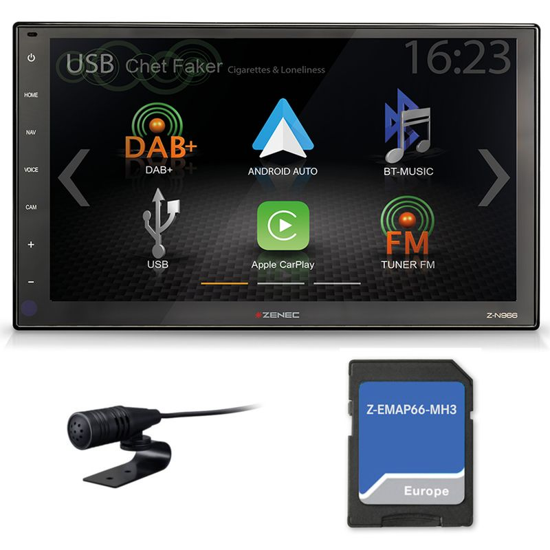 ZENEC Z-N966 Z-EMAP66-MH3 2-DIN Naviceiver Android Auto Bluetooth DAB+ USB