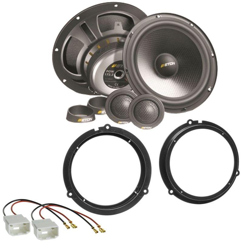 ETON POW172.2 2 Wege Lautsprecher Einbauset für Ford Focus 3 DYB Fiesta JA8