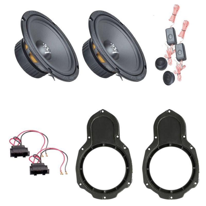 Ground Zero GZIC 16X Lautsprecher Einbauset vorne passend für Passat B6 B7 3C CC