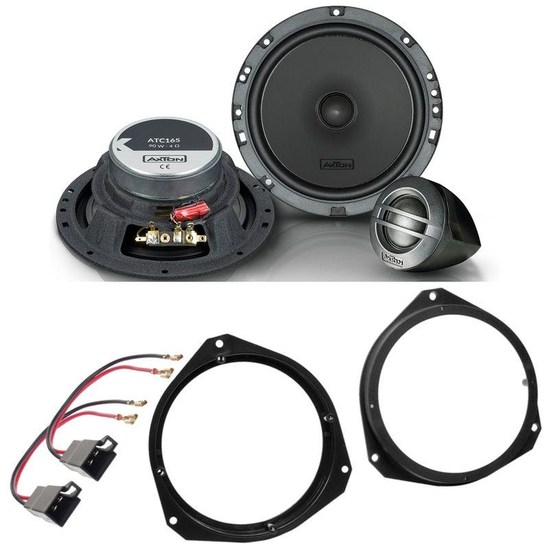 AXTON ATC165 2-Wege Lautsprecher Einbauset für Opel Astra H Corsa D vorne