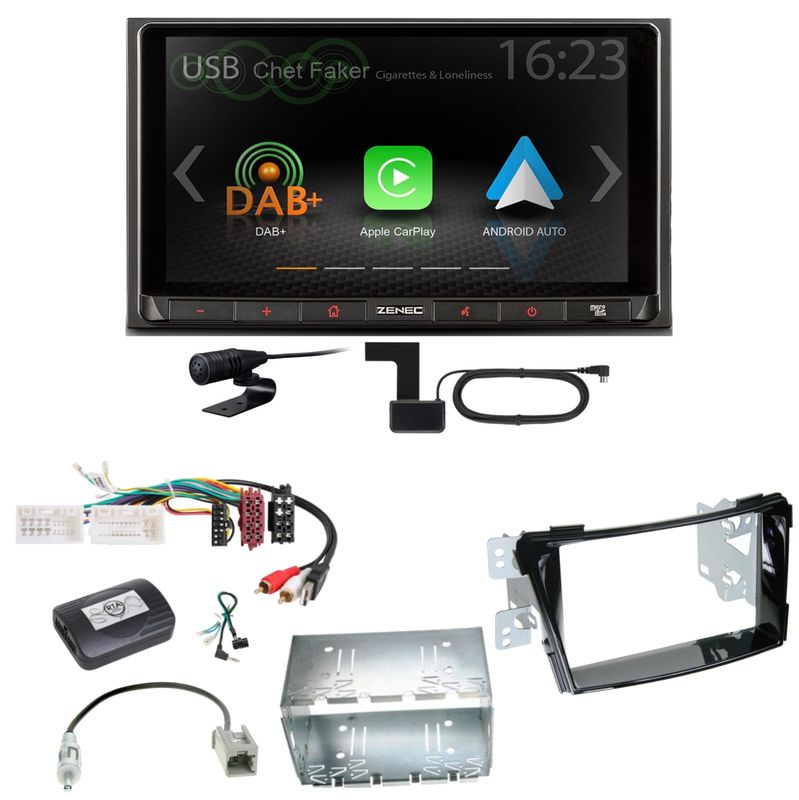 ZENEC Z-N528 Android Auto CarPlay Digitalradio Einbauset für Hyundai i40 VF
