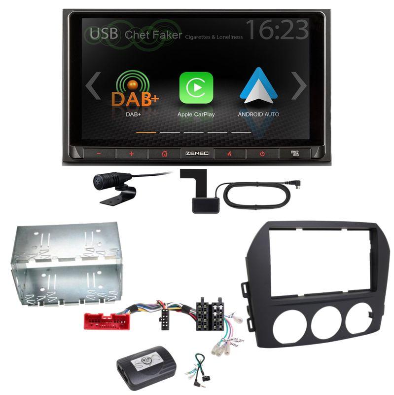 ZENEC Z-N528 Android Auto CarPlay Digitalradio Einbauset für Mazda MX-5 NC FL