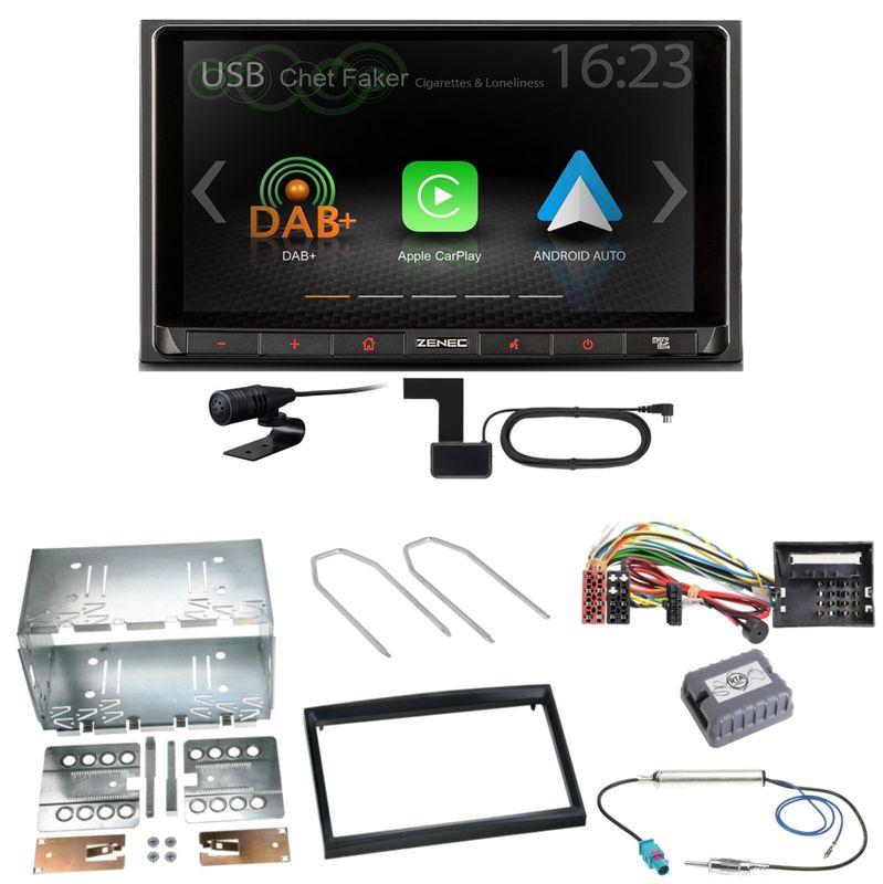 ZENEC Z-N528 Android Auto CarPlay Einbauset für Peugeot 207 307 Partner Expert