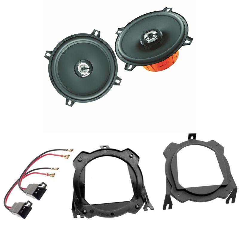 Hertz DCX 130.3 Lautsprecher Einbauset für Corsa C B Tigra seitliche Heckablage