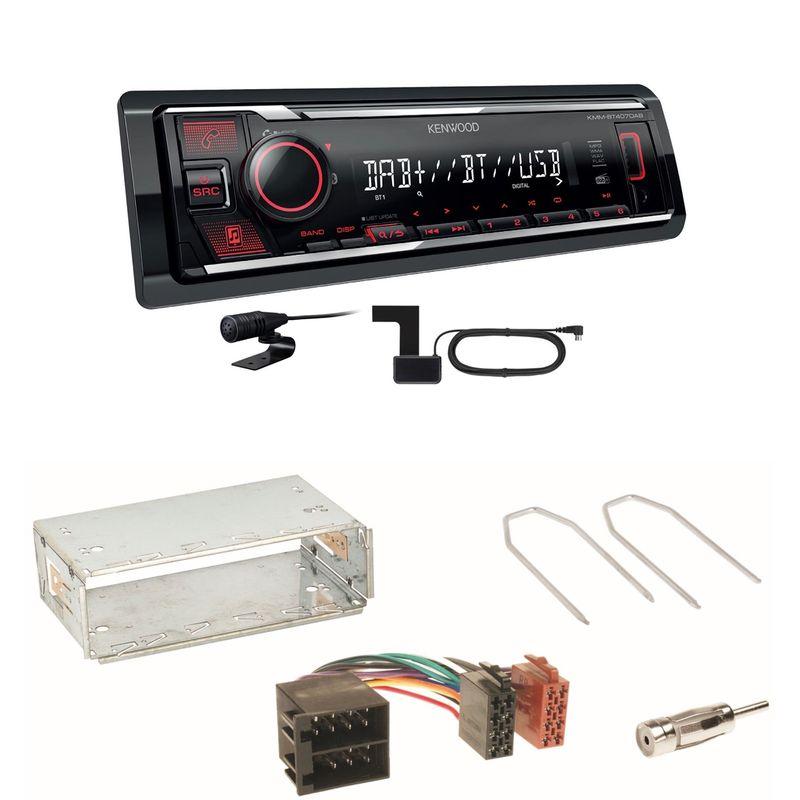Kenwood KMM-BT407DAB Bluetooth DAB Einbauset für Citroen Berlingo bis 2007