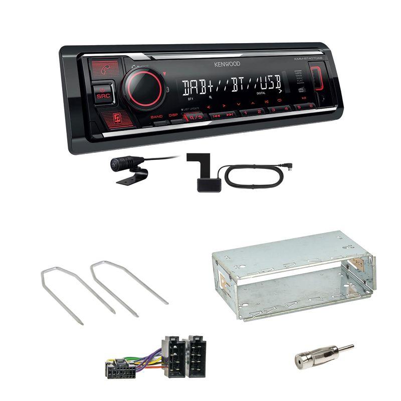 Kenwood KMM-BT407DAB Bluetooth Digitalradio Einbauset für Dacia Duster bis 2012