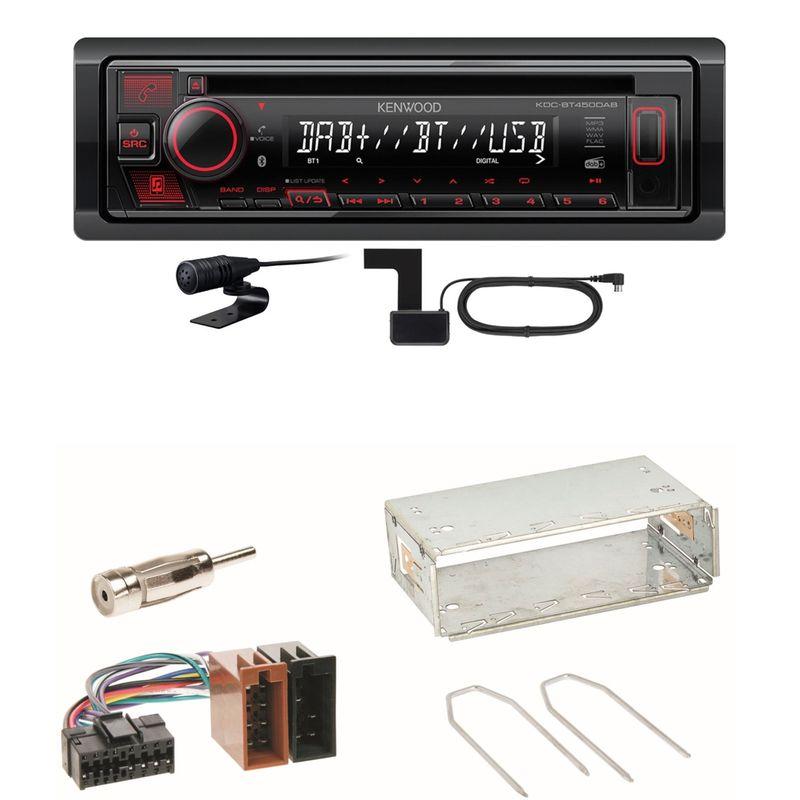 Kenwood KDC-BT450DAB Bluetooth DAB CD Einbauset für Renault Clio 1 2 Twingo