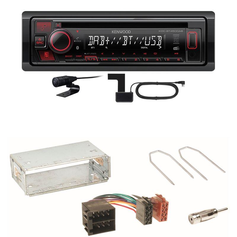 Kenwood KDC-BT450DAB Bluetooth DAB CD Einbauset für Citroen Berlingo bis 2007
