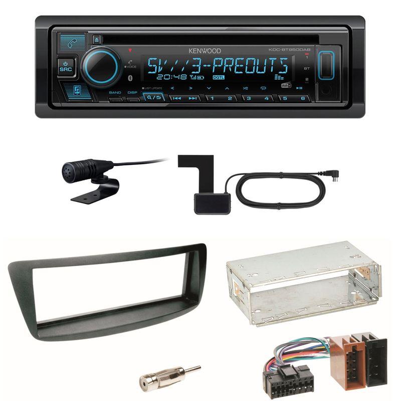 Kenwood KDC-BT950DAB Bluetooth DAB Einbauset Toyota Aygo Citroen C1 Peugeot 107