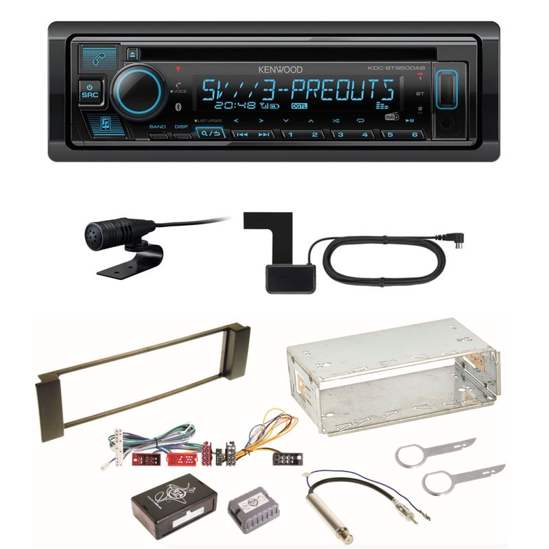 Kenwood KDC-BT950DAB Bluetooth Digitalradio CD Einbauset für Audi A3 8L A6 4B