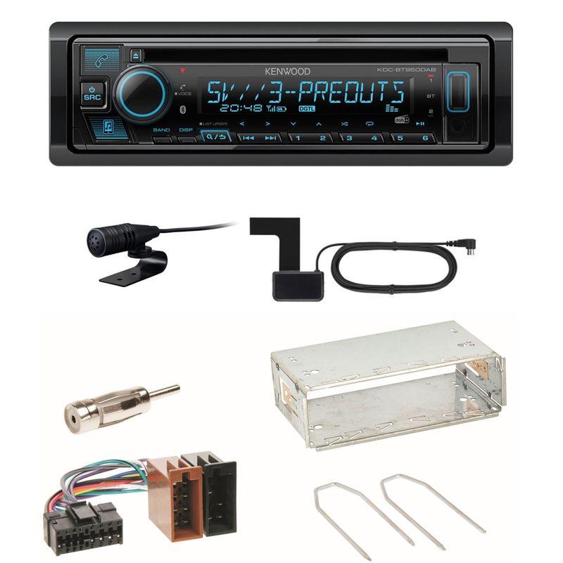 Kenwood KDC-BT950DAB Bluetooth DAB CD Einbauset für Renault Clio 1 2 Twingo