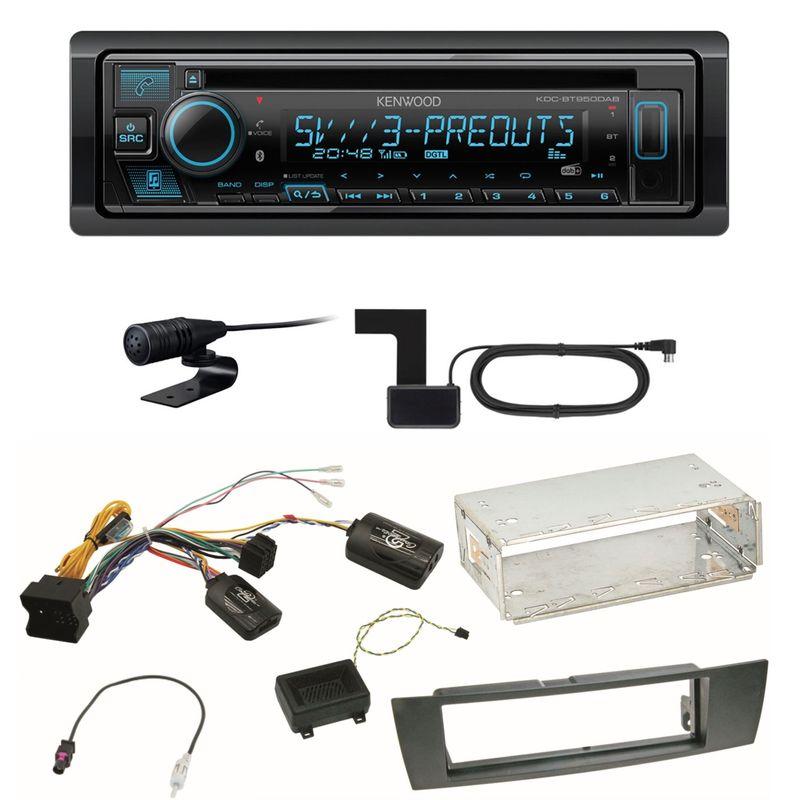 Kenwood KDC-BT950DAB Bluetooth Digitalradio Einbauset für BMW E87 E81 E82 X1 E84