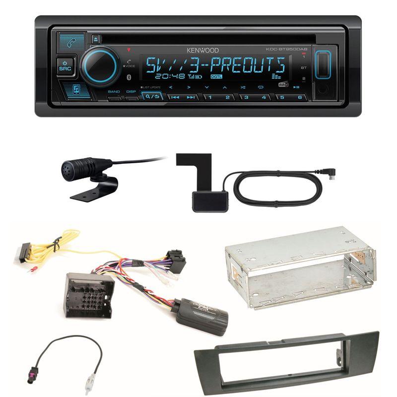 Kenwood KDC-BT950DAB Bluetooth Digitalradio CD Einbauset für BMW E90 E91 E92 E93