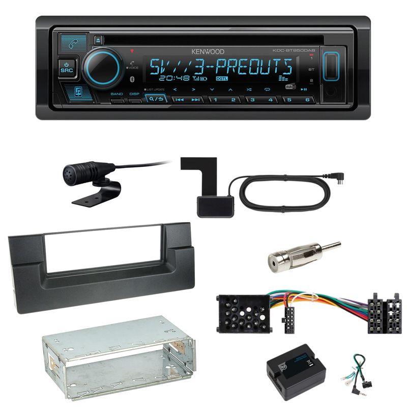 Kenwood KDC-BT950DAB Bluetooth DAB CD Einbauset für BMW 5er E39 bis 09/2000