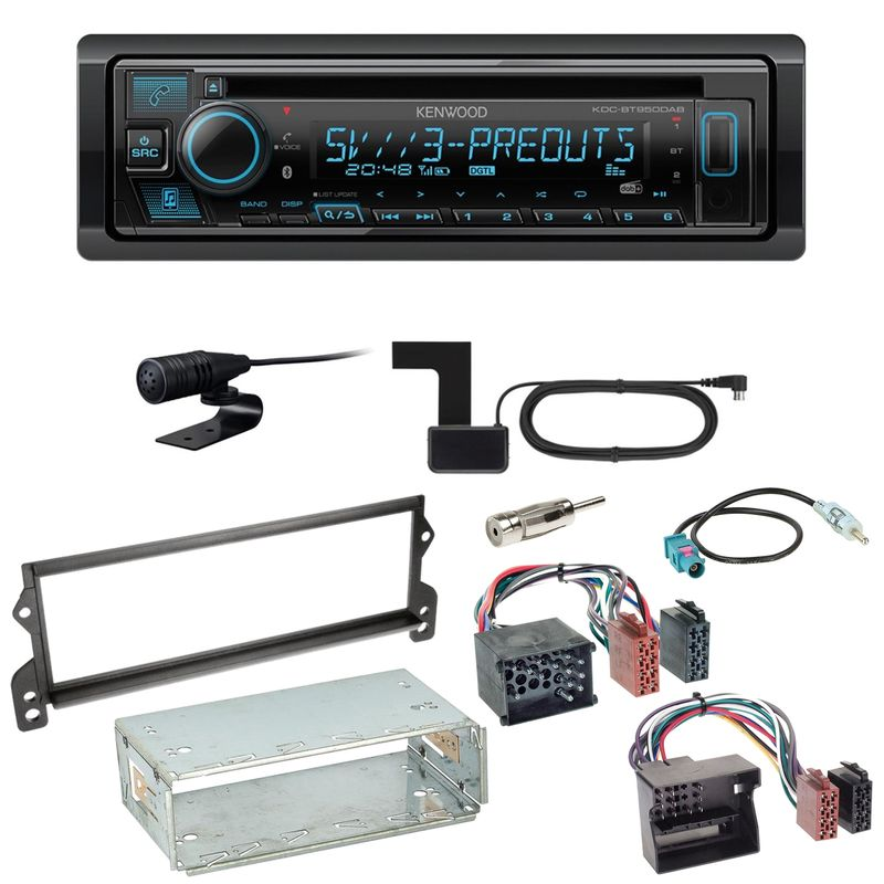 Kenwood KDC-BT950DAB Bluetooth Digitalradio CD Einbauset für MINI R50 R52 R53