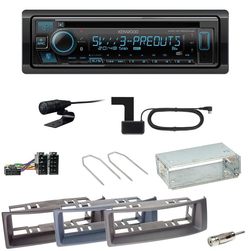 Kenwood KDC-BT950DAB Bluetooth DAB CD Einbauset für Renault Megane Scenic 1