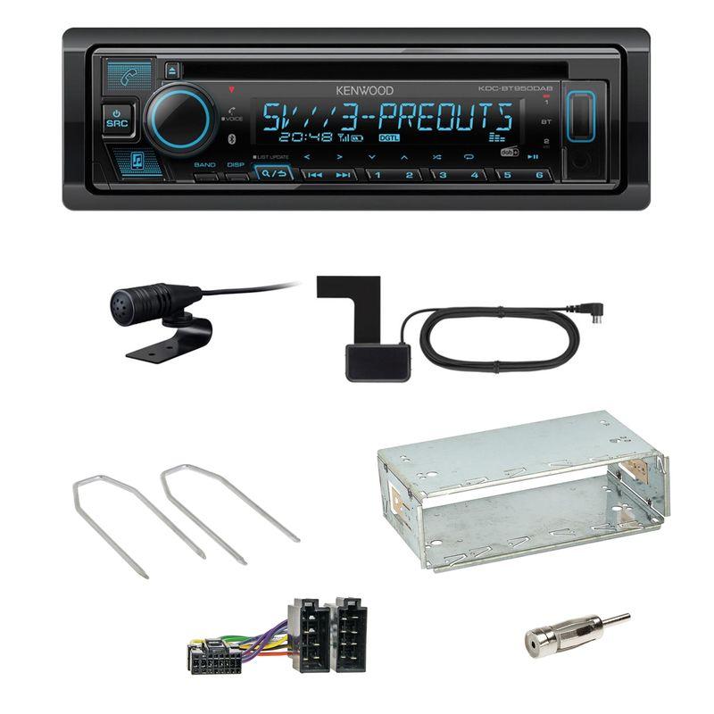 Kenwood KDC-BT950DAB Bluetooth DAB CD Einbauset für Renault Kangoo KC Laguna 1 2